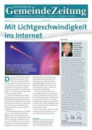 GZ-Sonderdruck FTTH - Bayerische Gemeindezeitung
