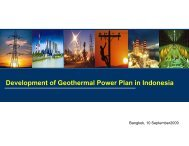 Development of Geothermal Power Plan in Indonesia