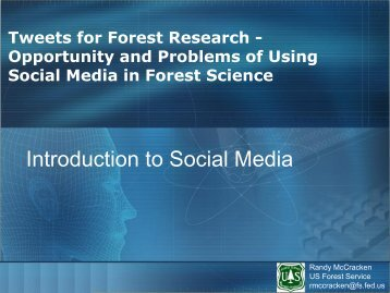 Introduction to Social Media - Global Forest Information Service