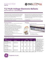 T12 Multi-Voltage Electronic Ballasts - GE Lighting Asia Pacific