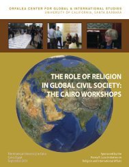 the cairo workshops - Global and International Studies Program ...