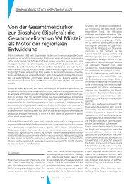 die Gesamtmelioration Val Müstair als Motor der regionalen ...