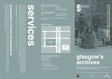 Poor Law Archives Leaflet - Glasgow Life