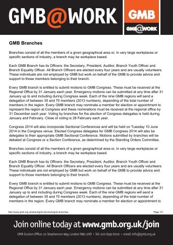 GMB Branches