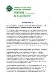 Pressemitteilung der Kreisgruppe Recklinghausen - (GdP ...