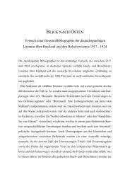 Website 16 _Blick nach Osten - dt. Rußlandliteratur_ - Gerd Koenen