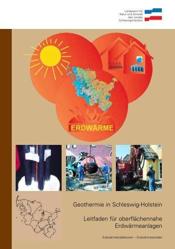 Geothermie in Schleswig-Holstein Leitfaden für oberflächennahe ...