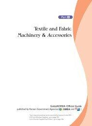 Textile and Fabric Machinery & Accessories - Gobizkorea