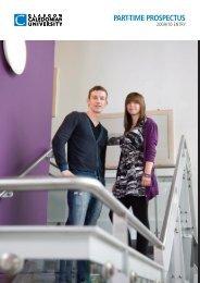 Part-time Prospectus: Glasgow Caledonian University