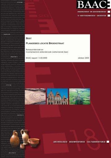 Archeologisch bureauonderzoek - Gemeente Best