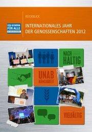 InteRnatIonaLes JahR deR GenossensChaften 2012 - Die ...