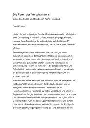 Die Furien des Verschwindens - Gerd Koenen