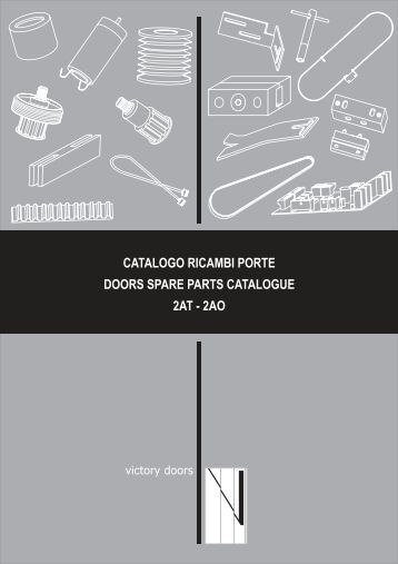 catalogo ricambi porte doors spare parts catalogue 2at - 2ao