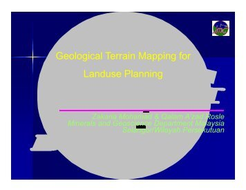 Geological Terrain Mapping for Landuse Planning