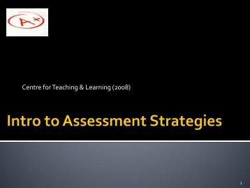 Assessment Strategies – Introduction - Georgian College