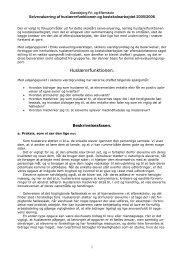 Huslærer- og tilsynsfunktion 2005/2006 - Glamsbjerg Fri- og Efterskole
