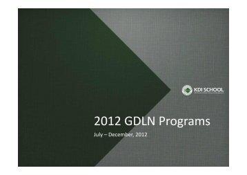 2012 KDIS GDLN Programs (Dr. Hye Kyung Chung, KDI School)
