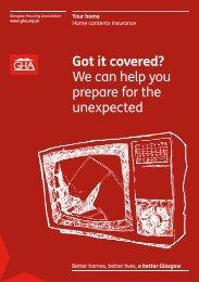 Contents insurance leaflet - Glasgow Housing Association