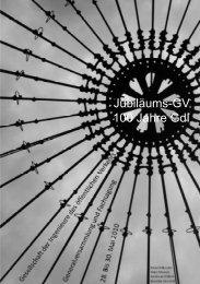 Jubiläums-GV 100 Jahre GdI