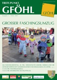 GROSSER FASCHINGSUMZUG - Stadtgemeinde Gföhl