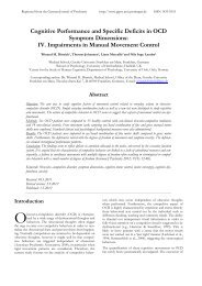 IV. Impairments in Manual Movement Control - German journal of ...