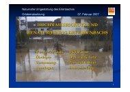 hochwasserschutz und renaturierung des erlenbachs