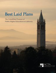Best Laid Plans - The American Council of Trustees and Alumni