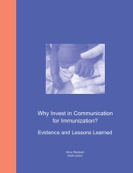 Why Invest in Communication for Immunization? - FHI 360 Center for ...