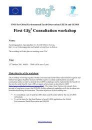 Gfg2 First Workshop Agenda