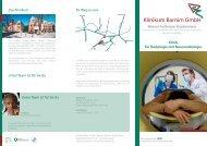 Klinkflyer - GLG Gesellschaft für Leben und Gesundheit mbH