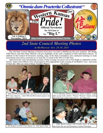 Newsletters_files/WK PRIDE November 2011 .pdf - Lions District 17-L