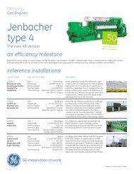 Type 4 Gas Engines Brochure (US Version) / PDF 320kb - GE Energy