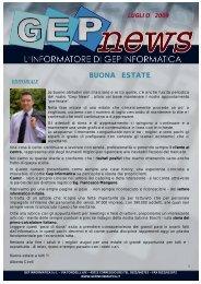 GEP NEWS LUGLIO 2009 - GEP Informatica Srl
