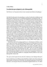 Beitrag - genanet - Leitstelle GENDER | UMWELT | NACHHALTIGKEIT