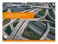 The plan ahead: Creating an effective financial ... - GE Capital