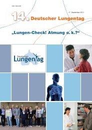 Lungen-Check! Atmung o. k.? - Deutscher Lungentag