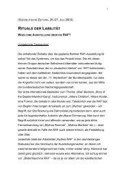 RITUALE DER LABILITÄT - Gerd Koenen