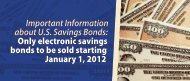 Important Information about U.S. Savings Bonds: Only electronic ...