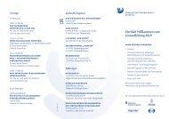 Herzlich Willkommen zum Gesundheitstag 2013!