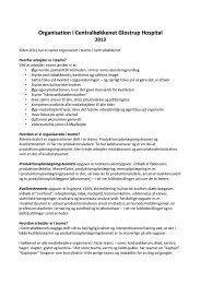 Læs hvordan vi er organiseret i teams i køkkenet - Glostrup Hospital