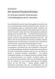 Der deutsche Russland-Komplex - Gerd Koenen