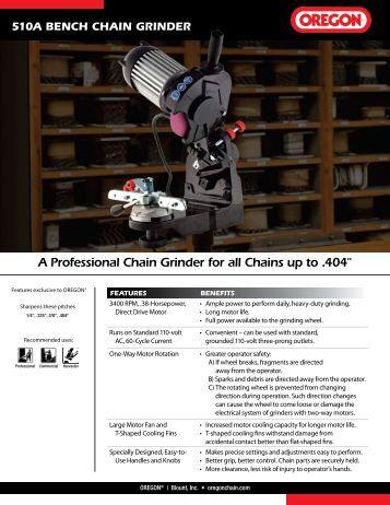 510A Bench Chain Grinder - Oregon