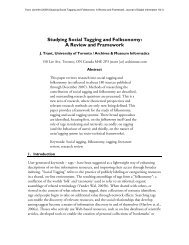 Studying Social Tagging and Folksonomy: A Review and Framework