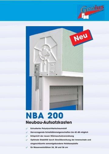 NBA 200 Neubau-Aufsatzkasten
