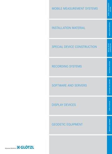 Measuring Device - GLÖTZL Gesellschaft für Baumesstechnik mbH