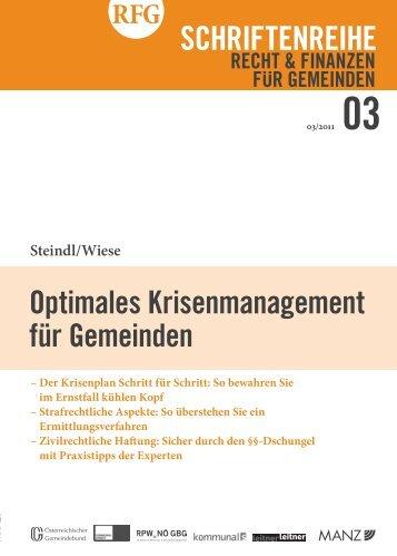 Schriftenreihe RFG Recht & Finanzen für Gemeinden