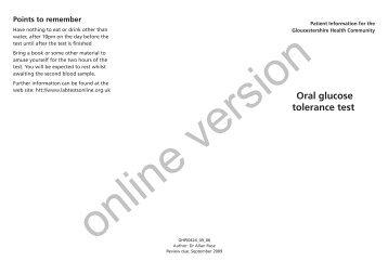 oral glucose tolerance test protocol