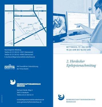 2. Herdecker Epilepsienachmittag - Gemeinschaftskrankenhaus ...