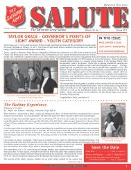 Taylor Grace – Governor's PoinTs of liGhT award ... - Salvation Army