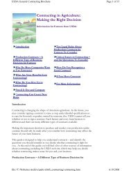 Contracting in Agriculture - Grain Inspection, Packers & Stockyards ...